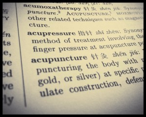 Acupuncture dictionary